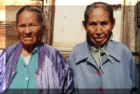 Ella & Anna Begay--That's their home, to the left